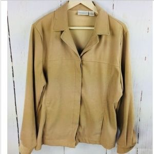 Worthington Jacket Size 16 Button Down Beige